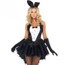 bunny girl corset outfit