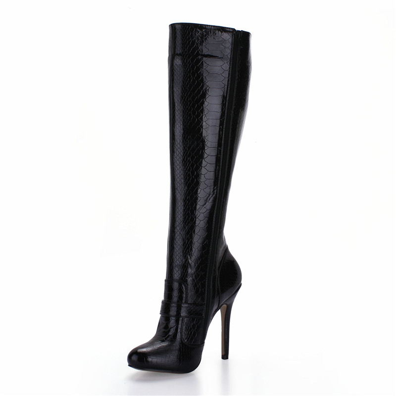 Stiletto Motorcycle boots, 12cm thin